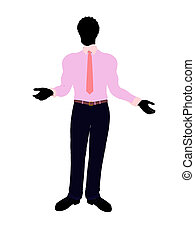 African American Business Man Silhouette