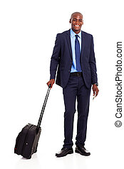 african american business traveler