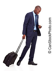 African american business traveller