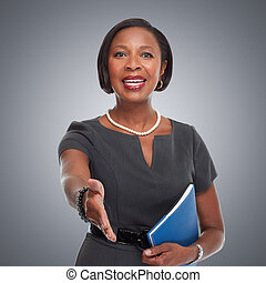 African-American business woman. - Beautiful afro american...