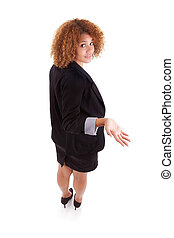 African American business woman lost - African people