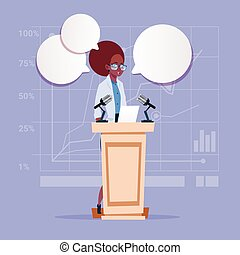 African American Business Woman Speaker Candidate Public...