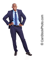 african American businessman full length
