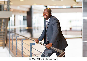 businessman in modern office building