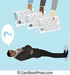African american Businessman makes a choice between CV ...