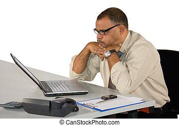 African-American businessman receiving bad news