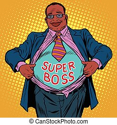 African American businessman super boss