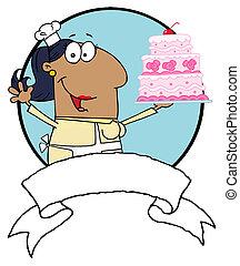African American Cake Baker Woman
