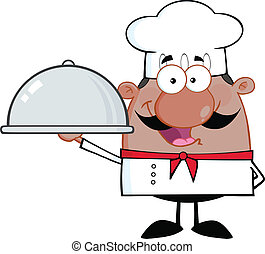 African American Chef Character