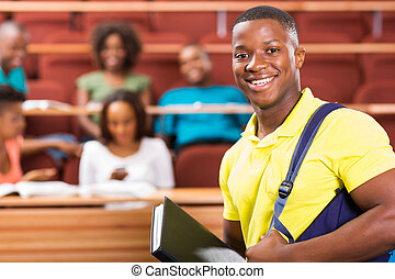 african american college student - handsome african american...