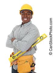 African American Construction Man