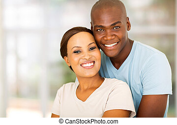 african american couple at home