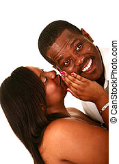 African American Couple Excited