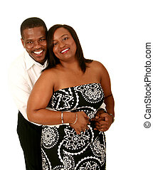 African American Couple Hugging 3