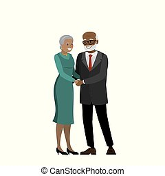 African american couple of old people