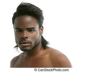 african american, csinos, black young bábu, portré