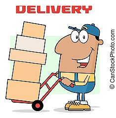 African American Delivery Man