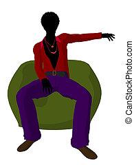 African American Disco Guy Silhouet - African american disco...