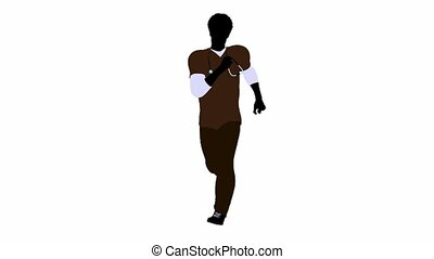 African american doctor on a white background