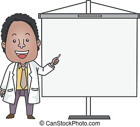 African American Doctor Giving Presentation