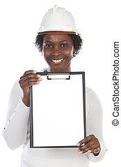 African american engineer woman