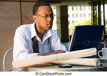 African American Executive Businessman - An executive...