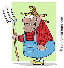 African American Farmer Man