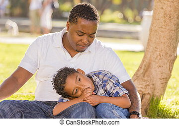 African American Father Worried About His Mixed Race Son as...