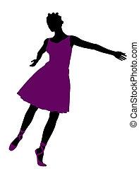African American Female Ballerina Silhouette - African...