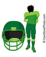 African American Female Football Player Illustration...