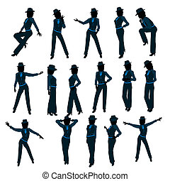 African American Female Jazz Dancer Silhouette - African...