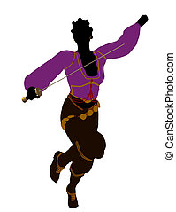 African American Female Pirate Silhouette - African american...