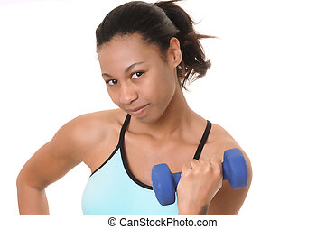 African American Fitness Girl