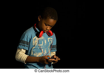 African American gamer.