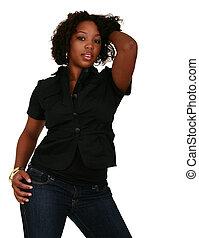 African American Girl Beauty Shot 3