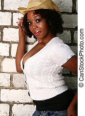 African American Girl Hot Pose From Side