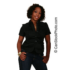 African American Girl In Casual Style