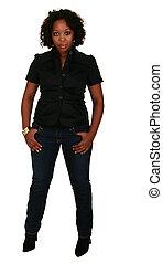 African American Girl Posing 2