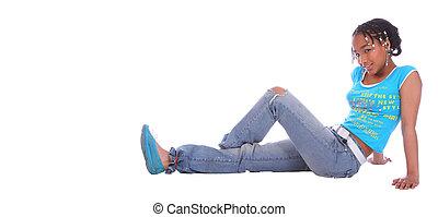 African American Girl Sitting Down 3