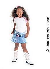 African American Girl Smiling
