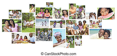 African American Happy Family Holiday Vacation