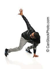 African American Hip Hop Dancer Performing