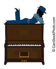 African American Jazz Musician Illustration - African...