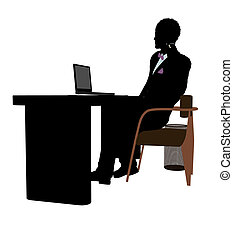 African American Male Business Silhouette - African american...