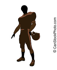 African American Male Football Player Illustration...