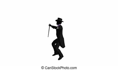 African American Male Tap Dancer