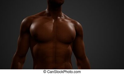 African American Male with bare chest