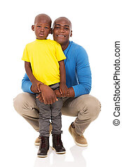 african american man and his son