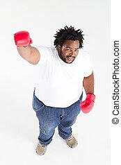 african american man boxing