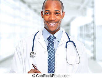 african-american, man., docteur